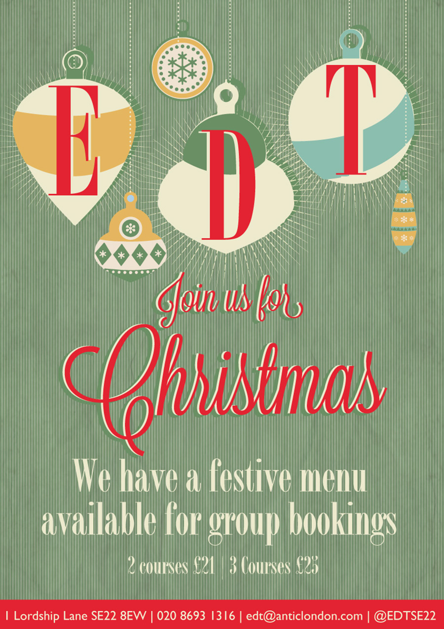 We're taking Christmas Bookings